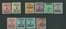 PARAGUAY 1907-08 VIGILANT LION (Scott 129-138) F/VF UNUSED mostly no gum