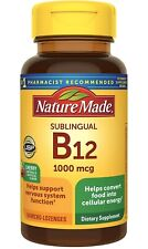 Brand New Sealed Nature Made Vitamin B-12 1000 MCG Sublingual 50 Count
