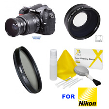 Wide Angle Macro Close Up Fisheye Lens for Nikon D5000 D5100 D5300 + CPL FILTER