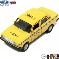 Diecast Car Scale 1:36 Lada 2107 Zhiguli Russian Taxi Model Car