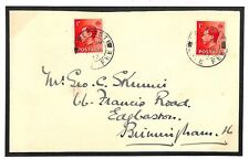 L163 1937 GB IRELAND LATE MAIL *Belfast Late Fee* CDS Rare KEVIII Cover Usage