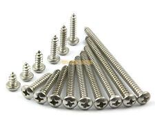 50 Pieces M4 x 50mm 304 Stainless Steel Phillips Pan Head Self Tapping Screw