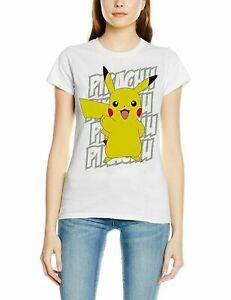 Ladies New Pokemon Women's Pikachu Victory T-Shirt UK size 8