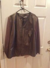 Plus Size Sweater Jacket Peter Nygard 3X Bronze Color