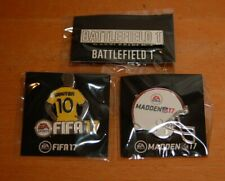 Lot of 3 Pins EA Sports Madden NFL, FIFA Soccer 17 & Battlefield 1 Limited Promo