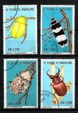 Insectes St Thomas et prince (20) série complète de 4 timbres oblitérés