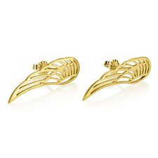 Feather Stud Earrings - Gold Plated Cut Out Wing Fashion Jewelry  - oNecklace ®