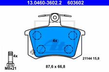 Bremsbelagsatz, Scheibenbremse für Bremsanlage Hinterachse ATE 13.0460-3602.2