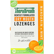 TheraBreath, Dry Mouth Lozenges, Mandarin Mint, 100 Wrapped Lozenges