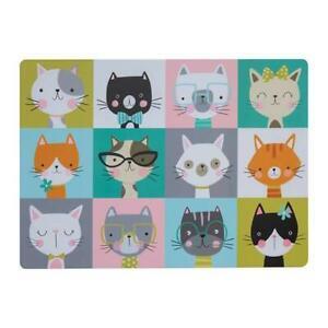 Mason Cash 'Pawtrait' Pet Cat Kitten Food Water Dish Protective Floor Place Mat