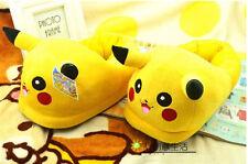 New Slipper POKEMON Pikachu Soft Plush Stuffed Xmas gift one size Adult Size