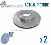 2 x NEW BLUE PRINT FRONT BRAKE DISCS SET BRAKING DISCS PAIR OE QUALITY ADT343156