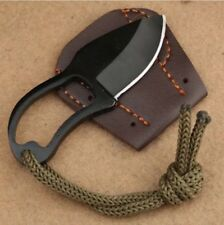 Mini Finger Paw Pocket Blade Self-defense Survival Fishing Neck Knife Sheath