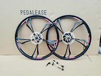 """Pair of 26"""" 26 inch mountain bike bicycle Magnesium alloy wheels mag wheels"""
