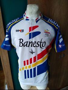 NALINI BANESTO BARCELONA 1992 CYCLING SHIRT VINTAGE MAGLIA JERSEY RARE