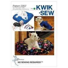 KWIK SEW SEWING PATTERN PET DOGS PILLOWS JACKETS & TOYS K3357