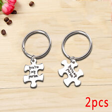 2x Puzzle You're My Person Key Ring Chain Keychain Lover Couples Keyring Gift