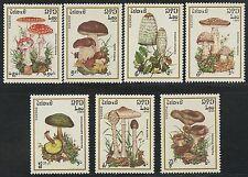 LAOS N°633/639** champignons TB, 1985 Mushrooms set MNH