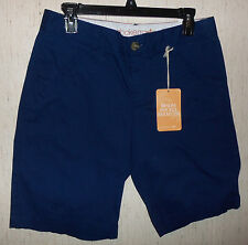 "NWT WOMENS DOCKERS ""BESOM POCKET BERMUDA"" NAVY BLUE BERMUDA SHORTS   SIZE 6"
