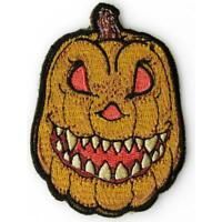 Embroidered Halloween Pumpkin Sew or Iron on Patch Biker Patch