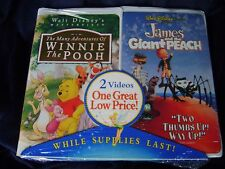 NEW SEALED Disney James & the Giant Peach The Many Adventures of Winnie the Pooh