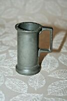 "Antique 1800s ""AP"" Marked ""Decilitre"" French 3"" Tall Miniature Tankard Stein Mug"