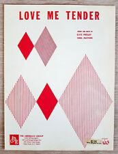 ELVIS PRESLEY LOVE ME TENDER   ORIGINAL SHEET MUSIC USA THE ABERBACH GROUP