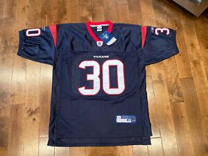 Reebok Authentic Ahman Green 30 Houston Texans Jersey NFL 48 Football Nebraska