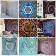 Hippie Bohemian Single Size Bedding Bedspread Indian Wall Hanging Tapestry Throw