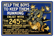 Canadian Grenadier Guards Military Sign 12×18