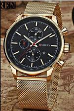 CURREN New Luxury Watch Men Watches Gold Steel Quartz Calendar Date Wristwatches