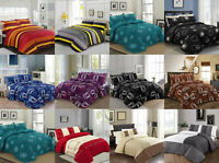 Quilted Bedspread Polycotton Throw Comforter Bedding Set With Pillow Shams