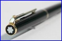Design Classic MONTBLANC #281 BLACK & GOLD / BALL POINT PEN w. lever operated