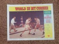 Original World In My Corner Movie Lobby Card –1956 - Audie Murphy, Barbara Rush