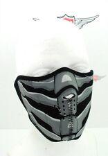Biker Maske Glow Skull maske Motorrad Bikermaske Streetfighter für Jet Helm