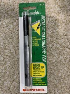 Sanford 46120 Metallic Calligraphy Pen Chisel Edged Tip Silver Ink
