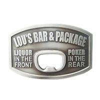 Men Buckle Bar Beer Bottle Opener Belt Buckle Gurtelschnalle Boucle de ceinture