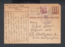 SWITZERLAND 1946 3 UPRATED POSTAL STATIONERY CARDS RED CROSS LAUSANNE TO GERMANY