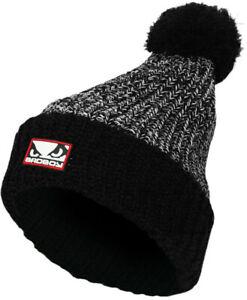 Bad Boy Winter Fleece Bobble Beanie Hat - Black