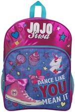 JoJo Siwa Bow Backpack Rucksack Denim Print Large Pocket Back Pack Girls Bag New
