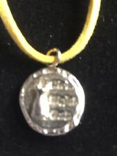 """Girls Night Out Disc TG217 Fine English Pewter On 18"""" Yellow Cord Necklace"""