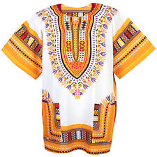 Cotton African Dashiki Mexican Poncho Hippie Boho Shirt Blouse White ad12wo1