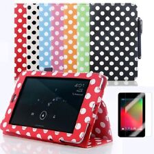 High Quality Polka Flip PU Leather Case 1st Generation 2012 Asus Google Nexus 7""