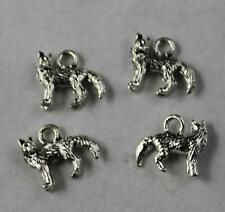 Free shippin 25pcs Retro style lovely Wolf alloy charms pendants 14x12mm