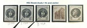 Tschechoslowakei 1953, Mi. Nr. 833 - 835, postfrisch