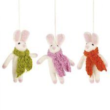 Felt So Good Set of 3 Easter Bunny Novelty Hanging Decorations
