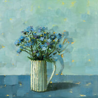 Anne-Marie Butlin - Forget-Me-Nots -Canvas READY TO HANG 40 x 40cm
