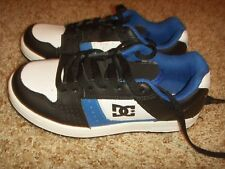 DC Youth's Nation Skate Shoes Blue Black White Size 3.5Y