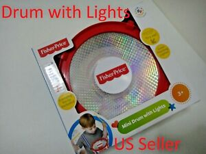 Fisher Price Mini Drum with Lights Drumsticks Battery Included US Seller