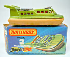 MATCHBOX SF N. 02c hovercraft Brillante Giallo Verde/Marrone chiaro H 'Tang. ADESIVI